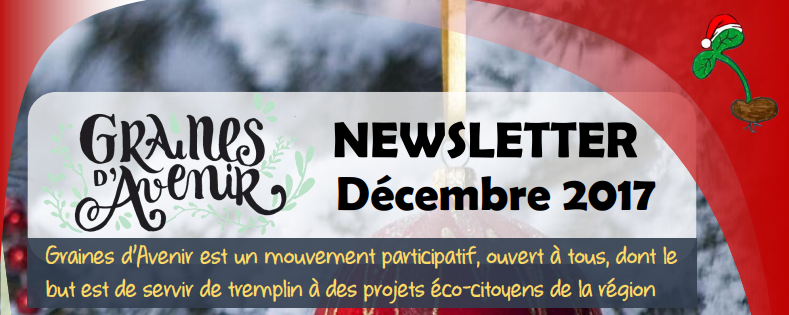 Newsletter Graines d'Avenir Décembre 2017