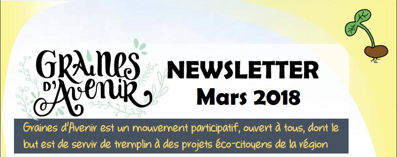 Newsletter Graines d'Avenir Mars