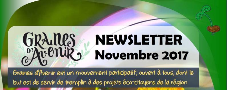Newsletter Graines d'Avenir Novembre 2017