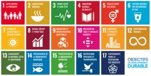 17 objectifs de développement durable de l'ONU