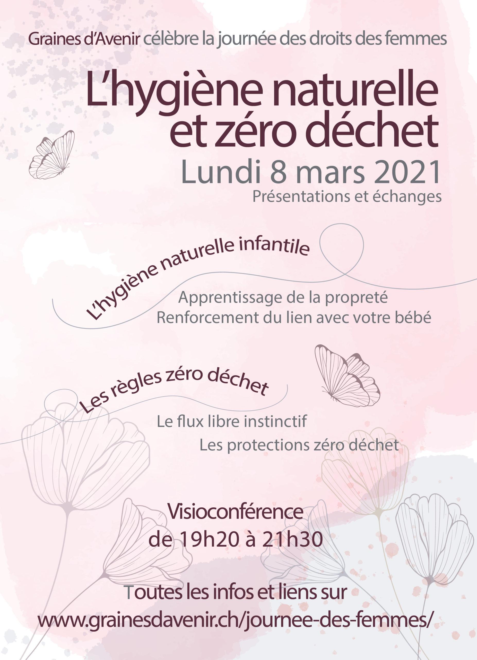Affiche de la soirée des femmes du 8 mars 2021
